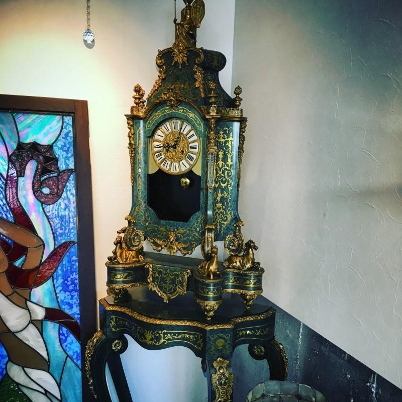 鍍金ブロンズ飾振り子時計